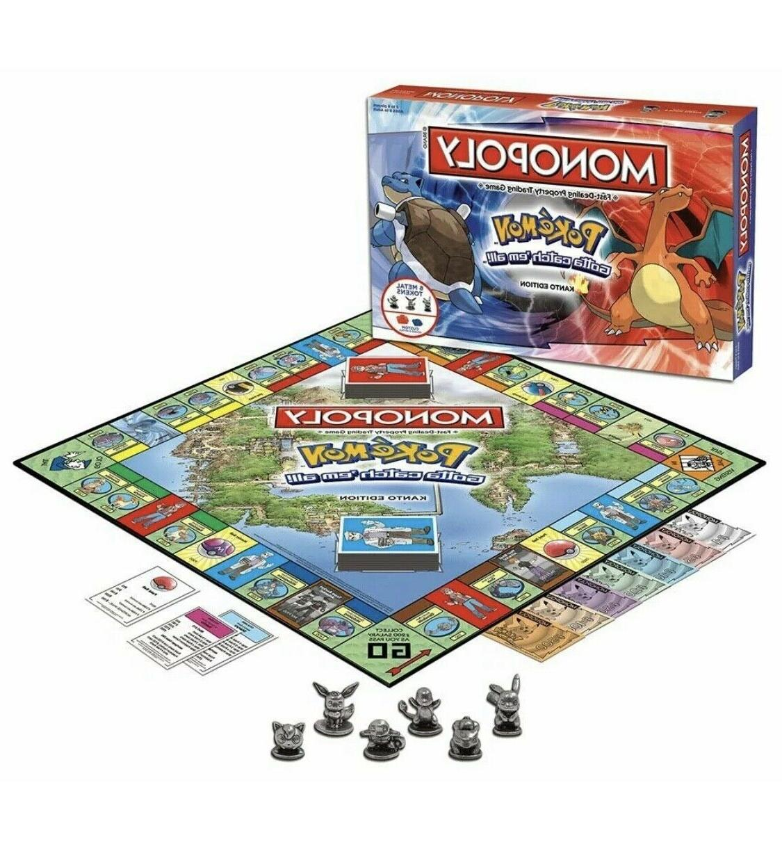 Pokemon Monopoly  Board Game- Family & Friends & Holiday Fun