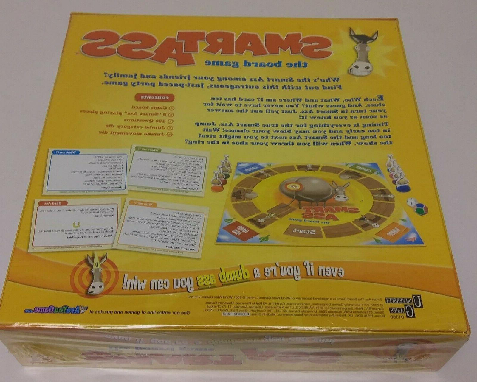 Smart Ass Board by University Games SEALED 12+ Collectable