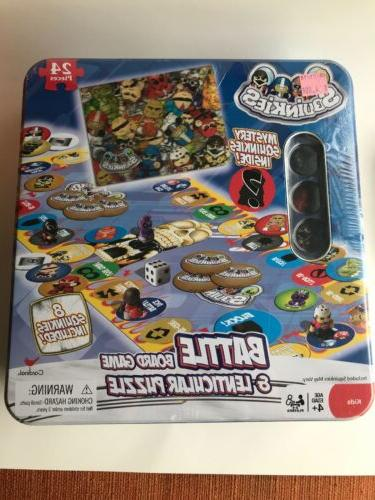 SQUINKIES BATTLE BOARD GAME & LENTICULAR PUZZLE 2010 NIB FRE