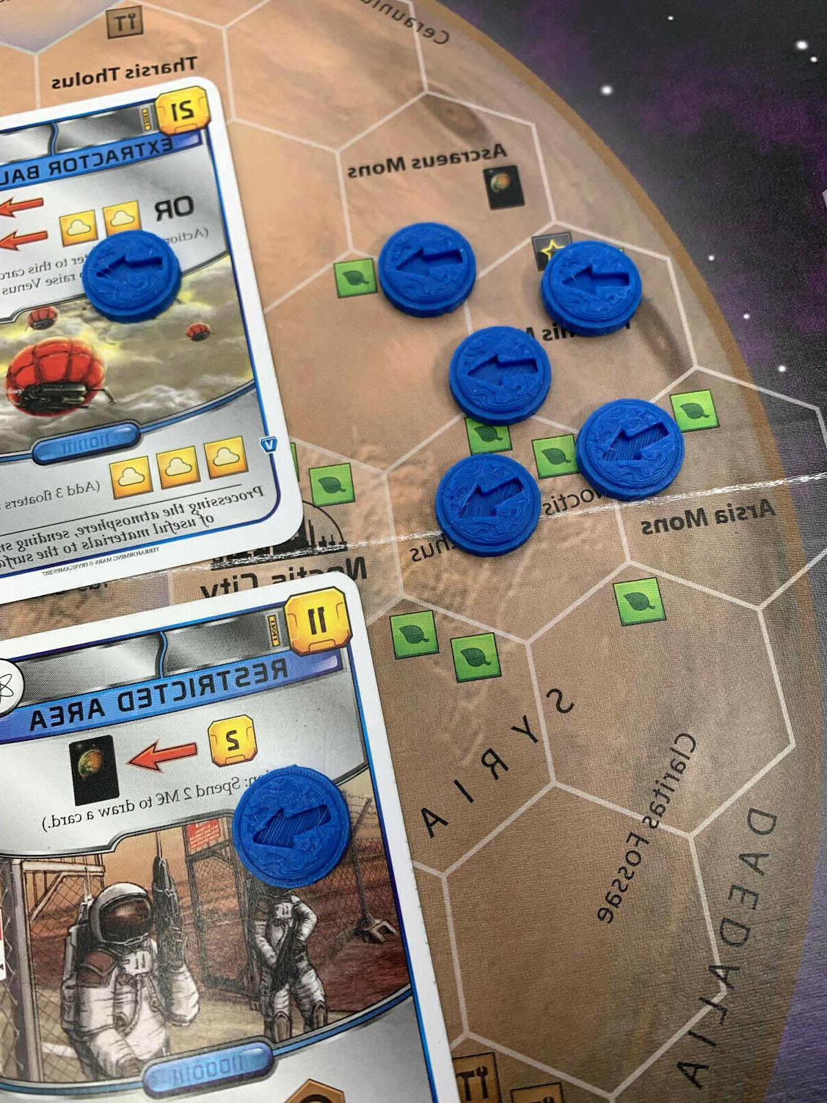 Terraforming Mars Board Game - Marker for Blue Action Cards