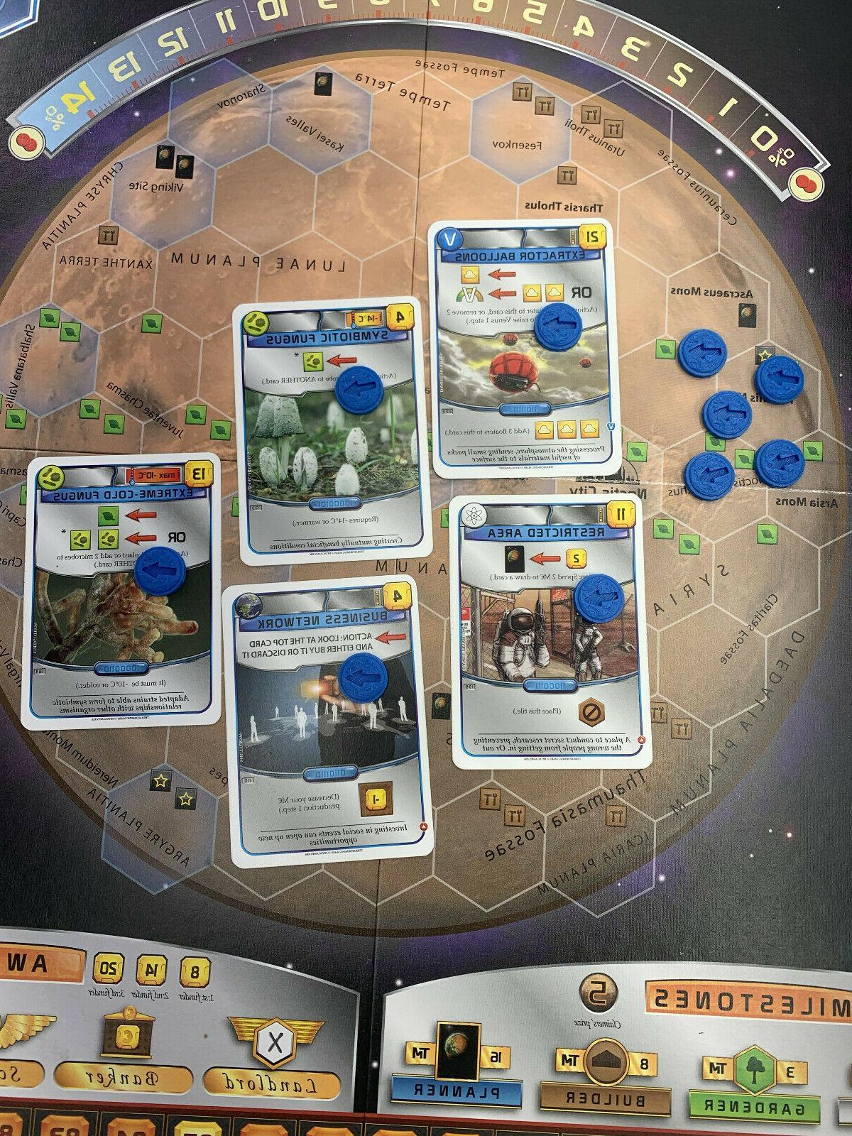 Terraforming Mars Board - Action Tokens for Blue
