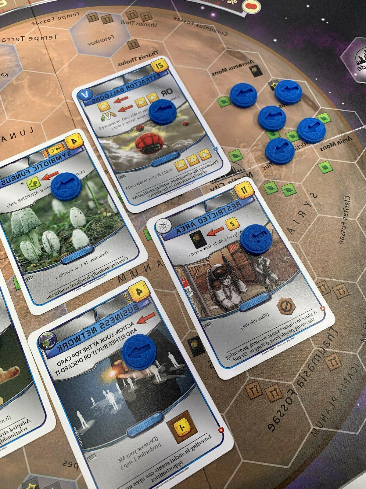 terraforming mars board game action marker tokens