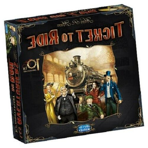 ticket to ride 10th anniversary edition board