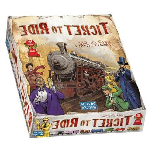 Ticket to Board Game Cross-Country Train Days of Wonder
