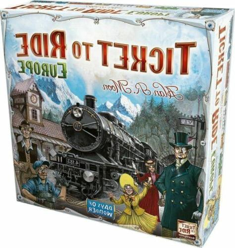 Ticket to Ride -Europe-Board Game Free Shipping Holiday Game