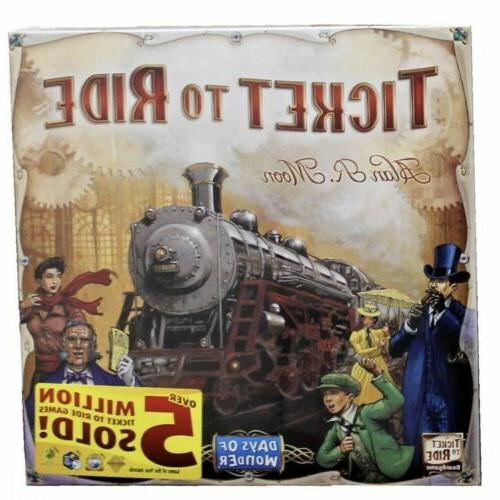 Ticket to Ride Train Adventure--Board Game Party Father's da