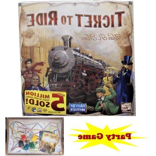 ticket to ride train adventure board game