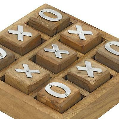 Wooden Board Tic Tac Toe Game Family Gift Handmade