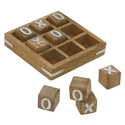 wooden board tic tac toe game great