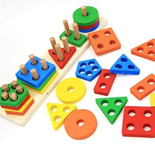 Wooden Educational Preschool Toddler Toys for 1 2