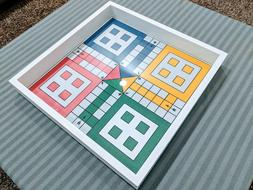 Large Ludo Board Game18x18 inches with GLASS TOP. $82.00 Fre