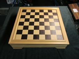 Leed's Game Board Checkers, Chess, Cribbage, Backgammon, and