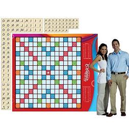 Shindigz 6 ft. Life-Sized Scrabble Board Game Set