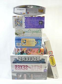 Lot Bundle Of 9 Board Games Puzzle Hasbro SIMON FLASH Memory