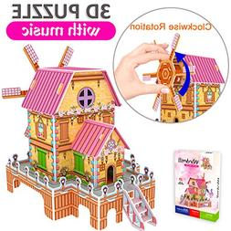 GBD 3D Jigsaw Puzzles for Kids Summer Gifts Magic Windmill M