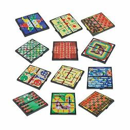 magnetic board game set includes 12 retro