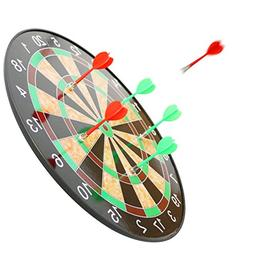 Magnetic Dart Board 16 In with 6 Flexible Magnetic Darts --S