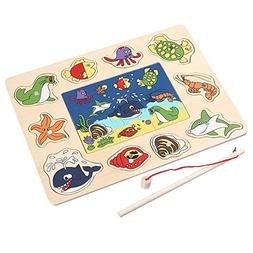 Doinshop Magnetic Fishing Game And 3D Jigsaw Puzzle for Kids