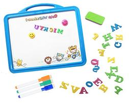 Magnetic Whiteboard Easel with 26 Alphabet Letters & Dry Era