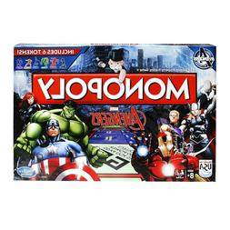 Marvel AVENGERS MONOPOLY Board Game by Hasbro w/6 Tokens - S
