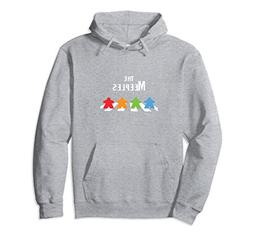Unisex The Meeples Board Game Addict Hoodie Small Heather Gr