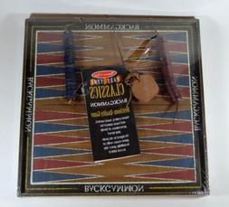 Melissa & Doug Classic Wooden Backgammon Old Tyme Hanging Ga