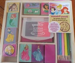Melissa & Doug Disney Princess Wooden Stamp Set: 9 Stamps, 5