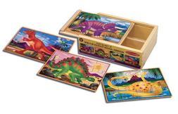 Melissa & Doug Dinosaur Jigsaw Puzzles in a Box