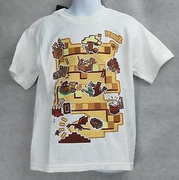 Minecraft Boys Board Game T-Shirt White Size 4 Ender Dragon