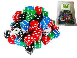 Hobby Monsters 100-Piece Mini 8 mm Assorted Game Dice