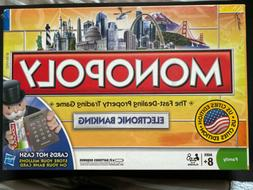 Hasbro Monopoly Electronic Banking Credit Card Game US Citie