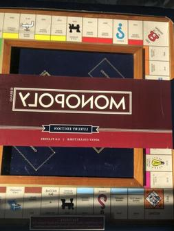Monopoly Luxury Edition Board Game Wood / Faux Leather NEW A
