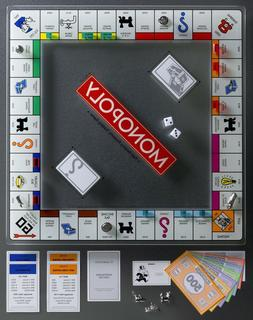 Winning Solutions Monopoly Tempered Glass Edition Board Game