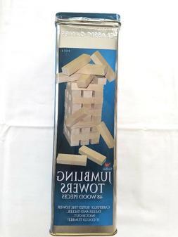 NEW 48pc Set Wood Jumbling Tower Toys Board Building Block G