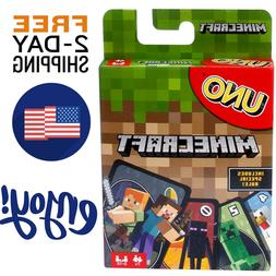 New UNO Minecraft Card Game Family Board Games Fun Playing P