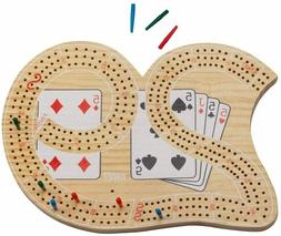 """NEW - Large 29 CRIBBAGE Board, 3 Track, 7.0"""" x 10.0"""" x 0.75"""""""