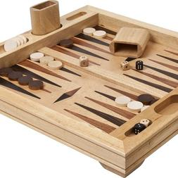Vesey Street Inlaid Wooden Backgammon Set 19""