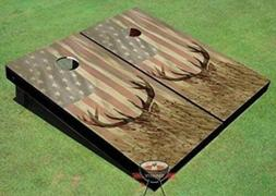 Official Size 2'X4' American Flag with Deer in The Grass