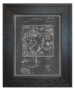 Pre-Operation Game Patent Art Chalkboard Print with a Border