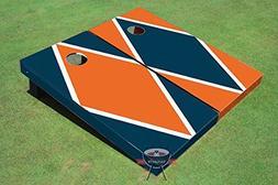 orange navy blue alternating diamond