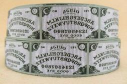 "Ouija Board 1"" Grosgrain Ribbon ~YOUR CHOICE: 5 or 10 Yard S"