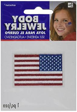 American Flag Body Jewelries - Red, White and Blue, Party Ac
