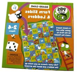 PBS KIDS Board Game Farm Sliders & Ladders Observation & Cou