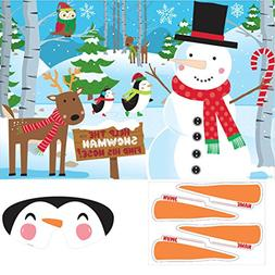 Pin-The-Nose On The Snowman Game | Christmas Activity