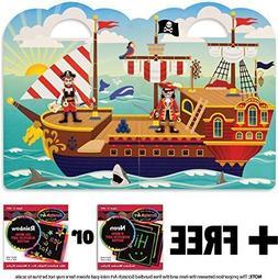 Pirate: Puffy Sticker Play Set + FREE Melissa & Doug Scratch