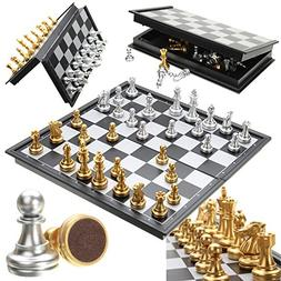 Placed Chess Set Board Game Toys - Chess Game Silver Gold Pi