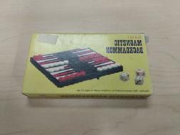 Pocket Size Backgammon Magnetic Foldable Portable Travel Boa