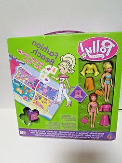 POLLY POCKET Board GAME 2004 Fashion Beach DOLLS Clothes Acc