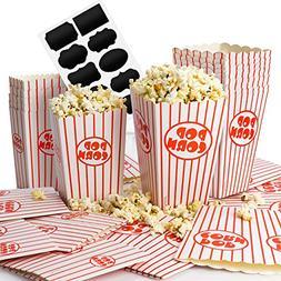 Chefast Popcorn Box Pack  - 12x Medium and 12x Small Holders