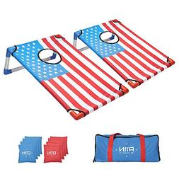 A11N Portable PVC Framed Bean Bag Toss Game Set with 8 Bean
